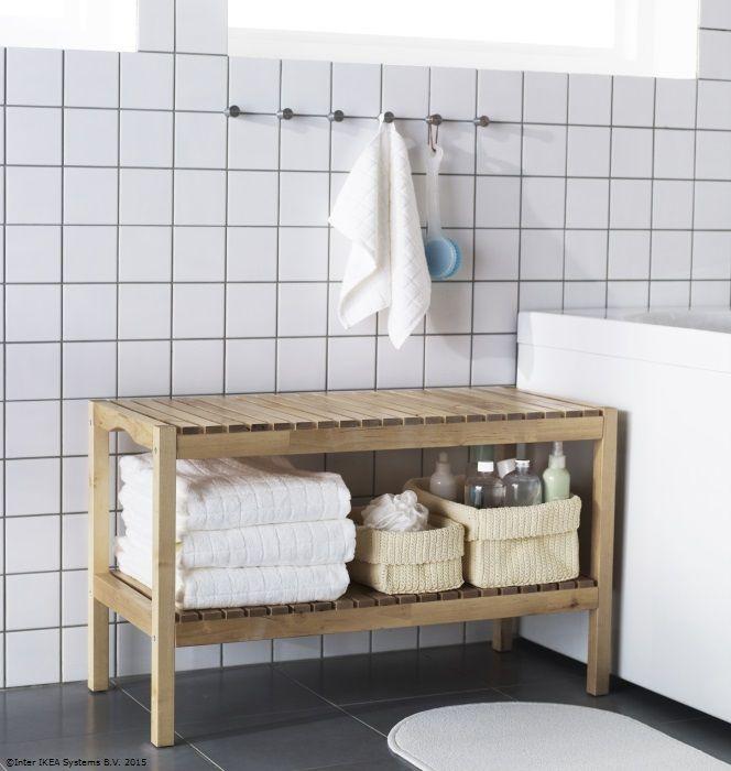 După o zi lungă, meriți o baie relaxantă. Ține la îndemână accesoriile de care ai nevoie, ca să te bucuri de ea cât mai repede. www.IKEA.ro/banca_MOLGER