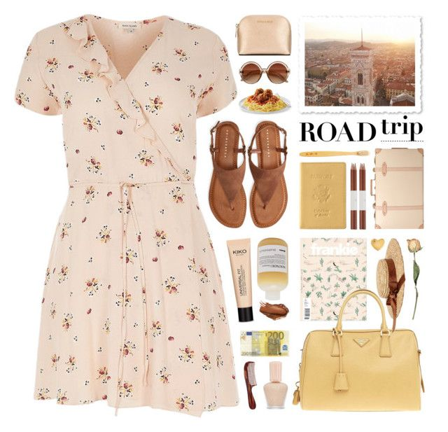 tuscany road trip by jesuisunlapin on Polyvore featuring River Island, Aéropostale, Prada, Globe-Trotter, Royce Leather, Sydney Evan, Men's Society, Paul & Joe, MICHAEL Michael Kors and Davines