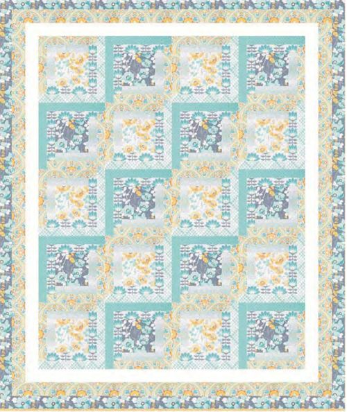 Seaside Inn Quilt Pattern HHQ-7402 (advanced beginner, lap and throw)