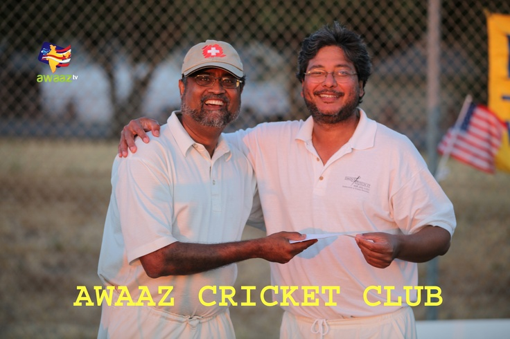 Chetan Shah (Left) - Fantasy cricket league organizer, Raj Padhi (Right) - Fantasy cricket league Winner & Founding member of BACA