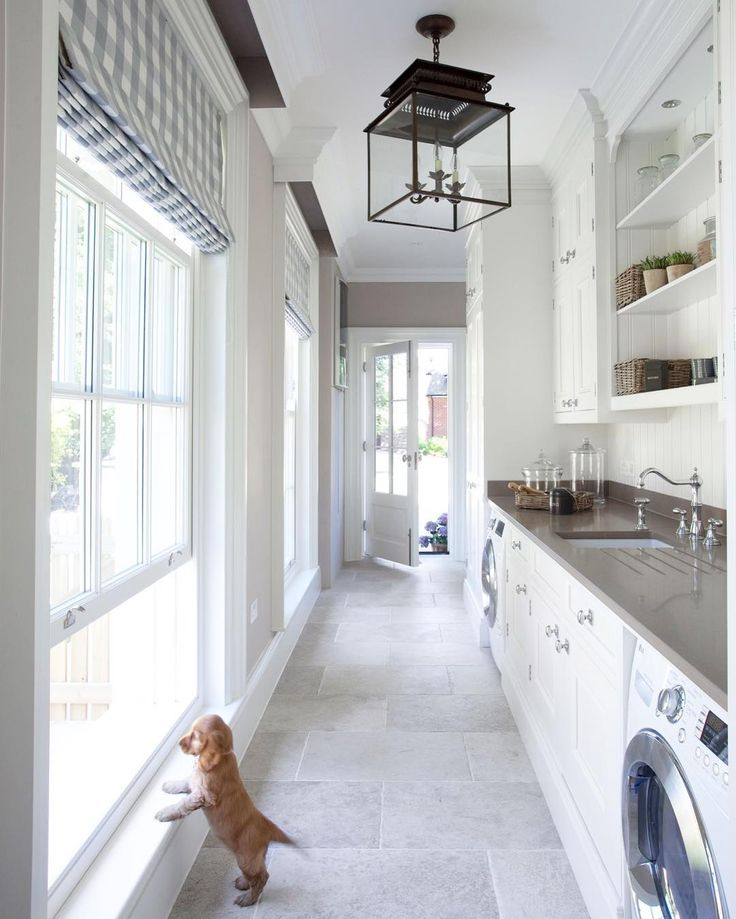 """60 Beautiful Small Laundry Room Designs: """"Muddy Paws Are No Concern In This Beautiful Mudroom"""