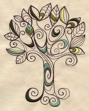 Nice pattern idea for a tree. Could sketch this for multiple crafts.