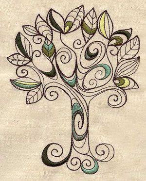 Doodle Tree design (UT3242) 265525 *