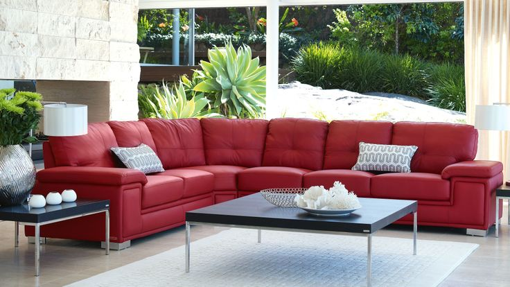 Best Picado 4 Piece Modular Leather Lounge Suite Lounge 400 x 300