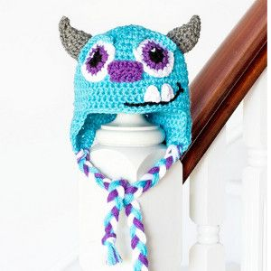Big Blue Monster Baby Hat