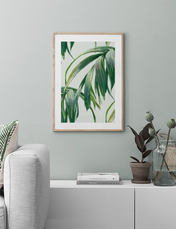 Watercolor leaves Poster in the group Prints / Sizes / 50x70cm | 20x28 at Desenio AB (10126)