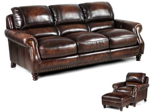 Traditional Leather Living Room With Nailhead Accents! Shop Puritan  Furniture 1061 New Britain Avenue West