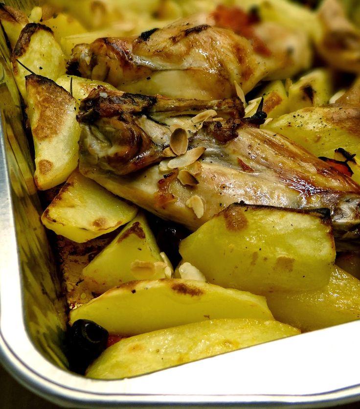 MATRIMONIO IN CUCINA: Coniglio piccante con mandorle ed olive taggiasche
