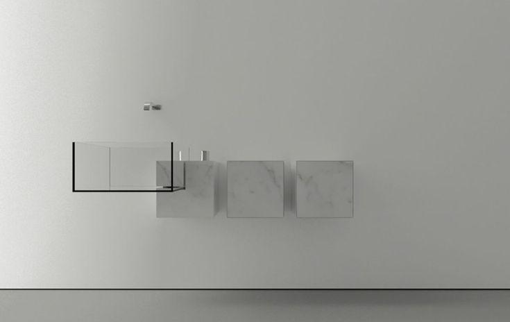 Minimalist Bathroom Sink With an Almost Surreal Appearance: Kub Basin