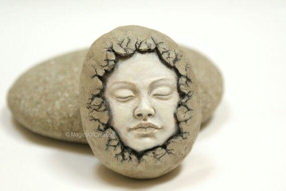 Beautiful a face pop break stone