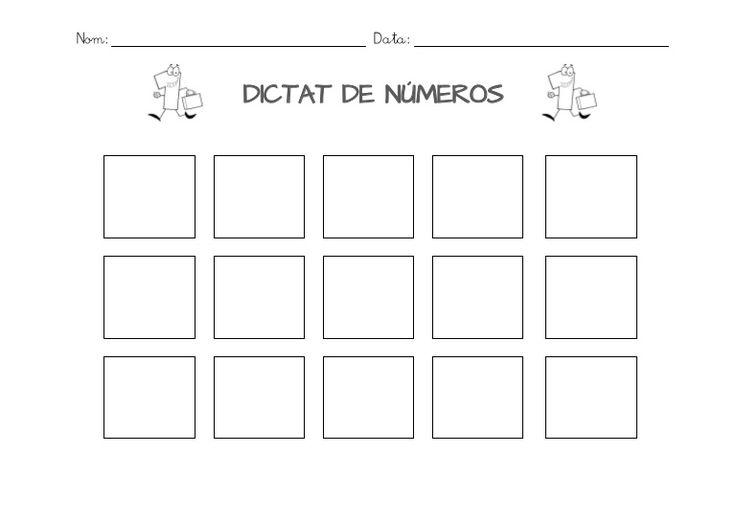Plantilles dictat de números