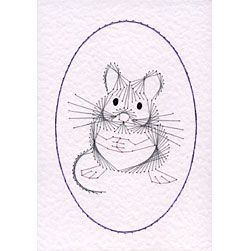Mouse/Hamster at Stitching Cards - ePatterns for paper embroidery