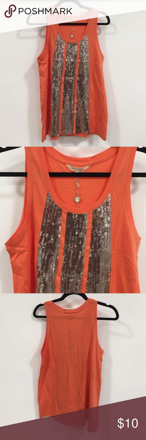 SHILLA Sequin Tank Top Sequined tank top -  new with tags Tops Tank Tops