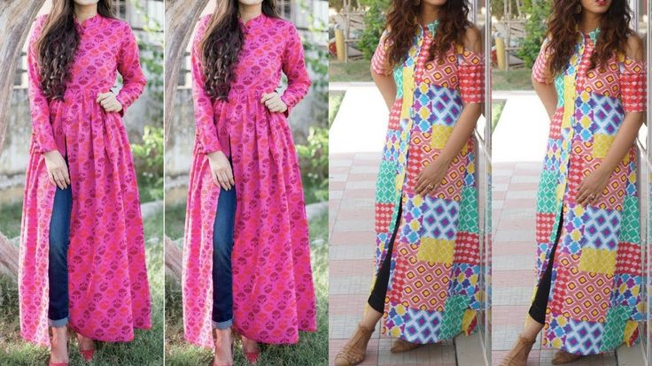 Latest Kurti With Jeans || Front Cut Kurti With Jeans || Trendy Kurti Of...