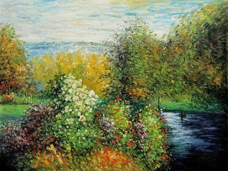 Canto do jardim de Montgeron de Claude Monet ❤