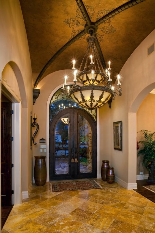 Gorgeous entry way by Bentley Manor Custom Home Interior & Exterior Design