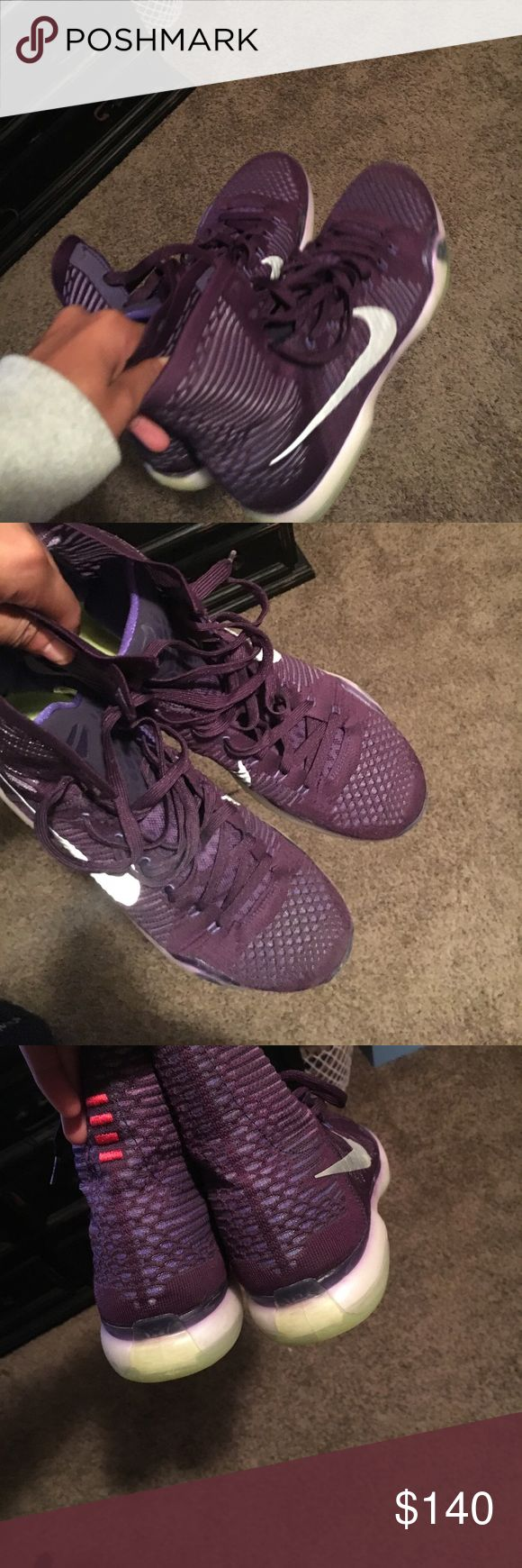 Kobe 10 purple Brand new message me for more pictures 321-248-3105 Nike Shoes Sneakers
