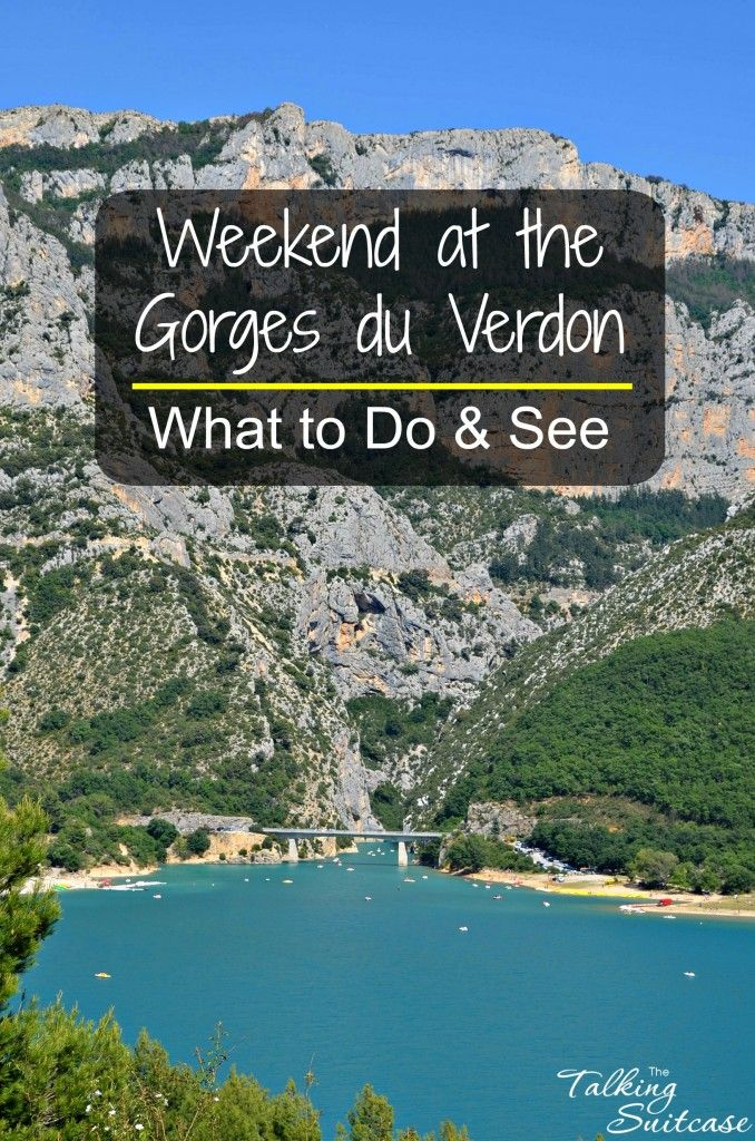TheGorges du Verdonor Verdon Gorge is locatedin the Alpes-de-Haute-Provence region of France. The Gorges ends at theLac de Sainte-Croix.  It's a great place to spend the weekend.  See our recommendations on what to see and do.
