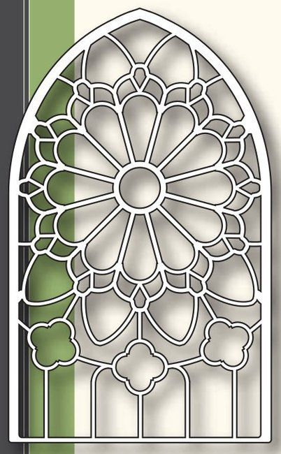 Grand Gothic Stained Glass Window Die