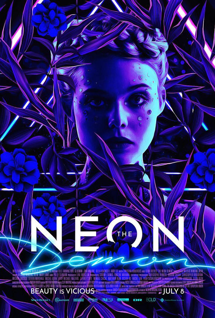 The Neon Demon alternative movie poster by www.chargefield.com #graphicdesign #design #movie #film #movieposter #poster #keyart #neon #flowers #theneondemon #typography #nicolaswindingrefn #neondemon