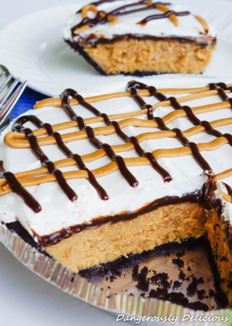 Chocolate Peanut Butter Pie from Dangerously Delicious