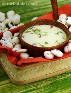 Makhana is rich in protein and calcium, together with low fat milk it makes a…