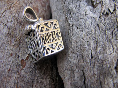 "Sterling Silver Prayer Box beautifully handcrafted with the words ""Courage, Truth, Wisdom"" Actually Opens so you can place your special prayers or wishes inside. The perfect gift for someone special. Only $35.00 from Sweet Sweet Silver."