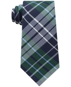 Tommy Hilfiger Men's Exploded Check Slim Tie - Green
