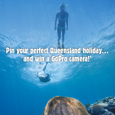 Pin to win a GoPro camera! Just create a 'My Queensland Bucket List' board with at least 5 Queensland photos, then complete the entry form to go into the draw!