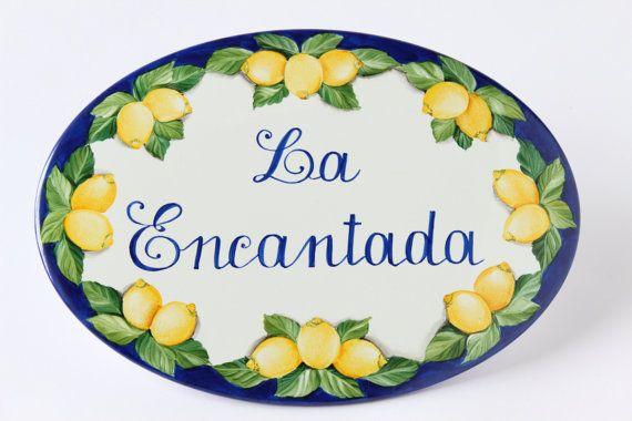 Targa ceramica personalizzata dipinta a mano/ di DipintoAdArte