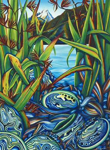 Martin Bay's Paua by Ginney Deavoll Limited Edition of 10 prints