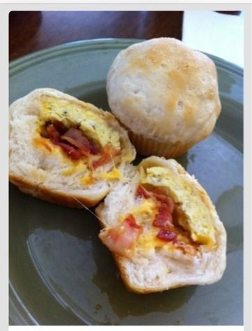 Bacon,Egg And Cheese Cupcake