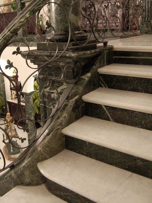 Delightful Ballesta Stone Features Natural Stone Staircase Design In Green Marble. Add  Value To Your Property With Natural Stone