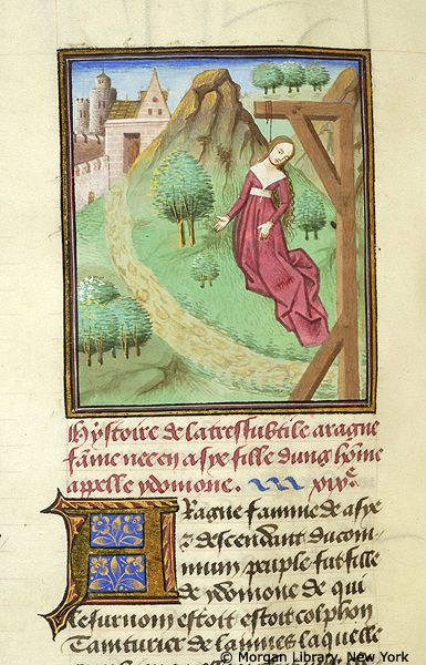 Arachne hanged | Literary | France, probably Paris or possibly the Loire region | ca. 1460 | The Morgan Library & Museum