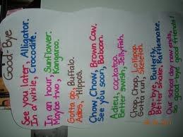 good bye: Good Ideas, Classroom Theme, Schools Ideas, Goodbi Poems, Education Ideas, Teaching Ideas, 2Nd Grade Poems Charts, Classroom Ideas, Anchors Charts