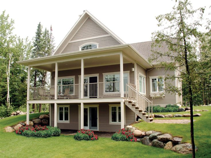 images about Lake House Plans on Pinterest   House Plans And    Freshfield Waterfront Home from houseplansandmore com