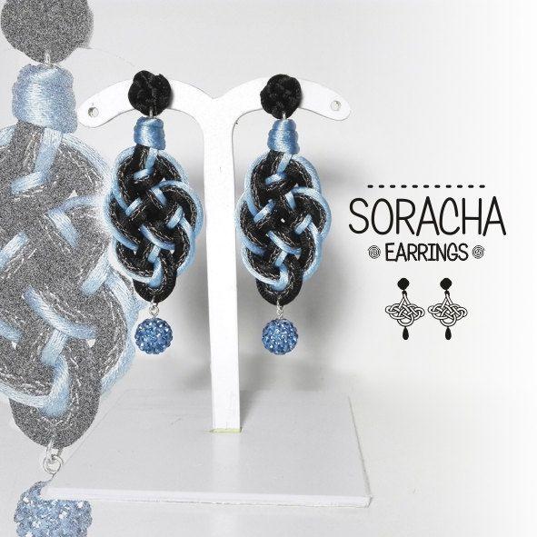 Soracha 4. Orecchini neri. Black earrings. lightweight earrings. orecchini in tessuto. di FabylaStore su Etsy