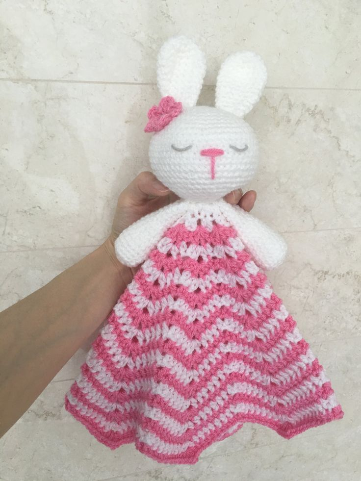 Crochet Baby Lovey Pattern Bunny Amigurumi Security