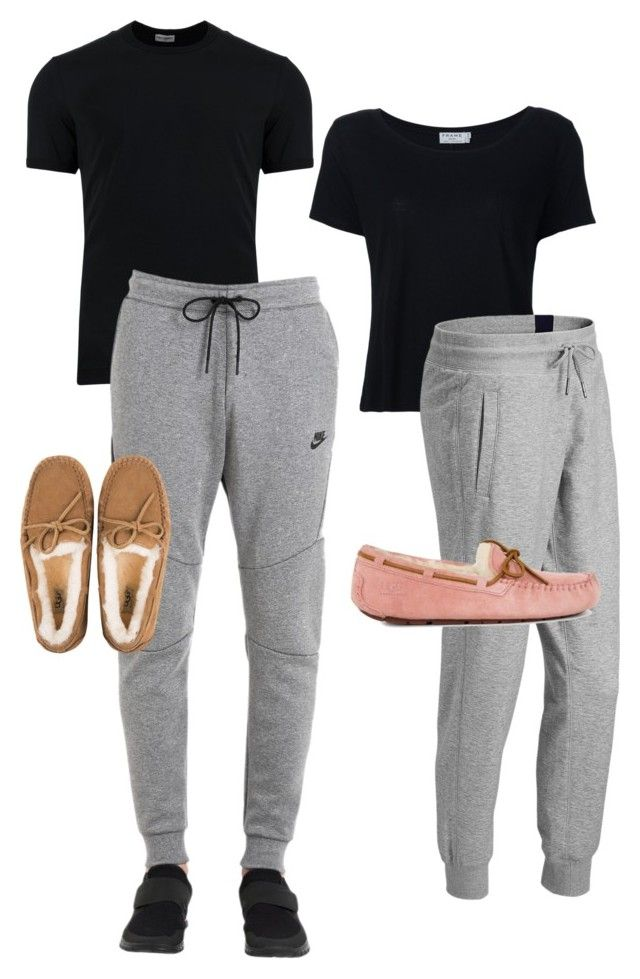 """Matching outfits boyfriend and girlfriend"" by keekeemarie02 on Polyvore featuring Frame, Dolce&Gabbana, NIKE, New Balance and UGG"