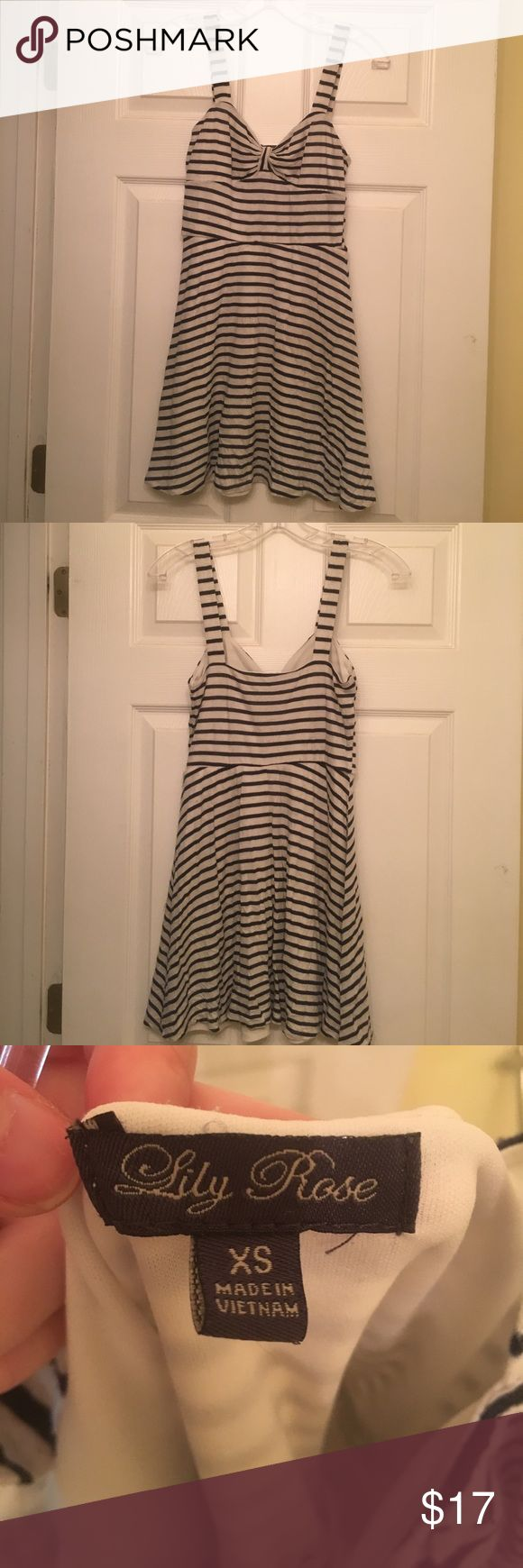 1/2 OFF Nautical Summer Dresa This cute nautical summer dress is perfect for the summer season! It's in great shape and has only been worn a few times! Very breezy, easy to wear. Perfect for going out and about and wanting to look cute. Lily Rose Dresses Mini