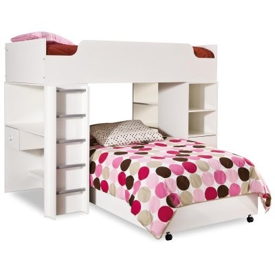 This is just about my dream bed but it takes up so much space! I aslo love the bedding! :)