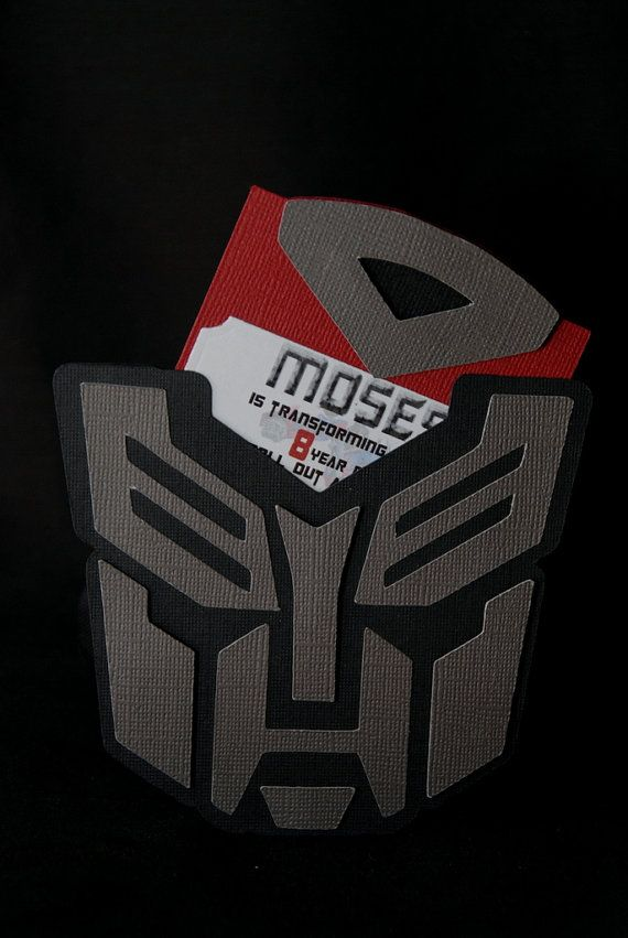 Transformers  Invitations by Bloominkards on Etsy, $28.00