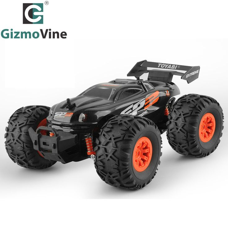 $37 GizmoVine RC Car Remote Control Car 1/18 Monster Truck Oversize Tires Bigfoot 2.4Ghz RC Car Toy for Kids