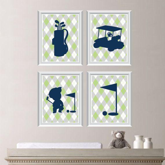 Baby Boy Nursery Art Print  Golf Nursery Art by RhondavousDesigns2