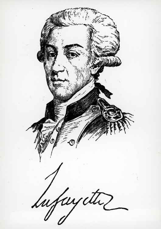 The Marquis de Lafayette (1757-1834) was a key figure in the French Revolution of 1789 and the July Revolution of 1830. Lafayette returned to France from the US after Napoleon Bonaparte secured his release in 1797, though he refused to participate in Napoleon's government.