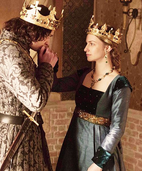 There seems to be such a story here... I imagine the king and queen falling in love after being arranged to marry.