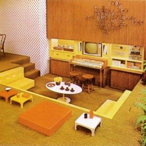 Sunken Living Room 70 S 20 best 20 ways to decorate your home 70s style images on