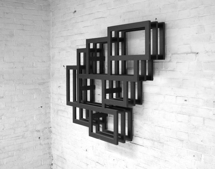 Frames Wall Is A Wall Mounted Storage Shelf Created By Dutch Designer  Gerard De Hoop. The Wall Shelves Are Made Of MDF.