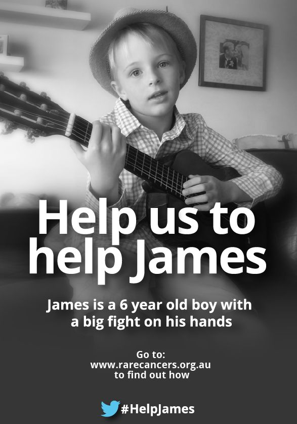 Six-year old James Warrington-Love has a hard battle ahead of him.  After undergoing surgery to remove 90% of a brain tumour, James must now travel with his family to Germany to finish his treatment.  Rare Cancers Australia is now fundraising to raise $100,000 to help James receive the treatment he desperately needs.   So please Share this to as many friends as you can, encourage people to donate and together we will can #HelpJames.