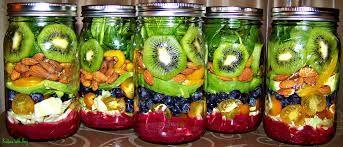 Saladas de Frutas no pote